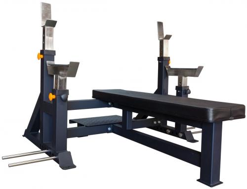 STRENGTHSHOP Posilovací lavice se stojany na bench-press - pohled 1