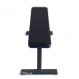 FITHAM Posilovací lavice rovná PROFI černá přední pohled